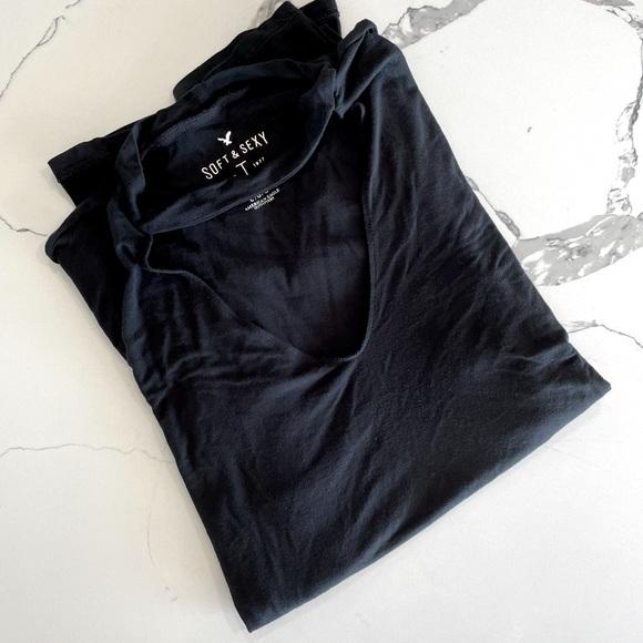 Black American Eagle Shirt